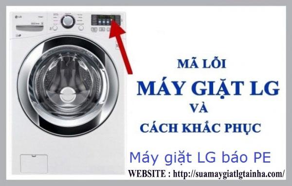 khắc phục máy giặt lg báo lỗi PE