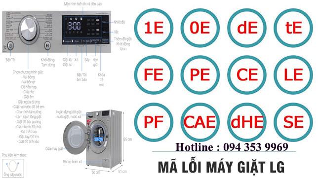 mã lỗi máy giặt LG inverter